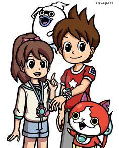 Youkai Watch Keita and Fumi by 4eknight11 on DeviantArt