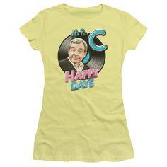 HAPPY DAYS MR. C Juniors Sheer Cap Sleeve T-Shirt