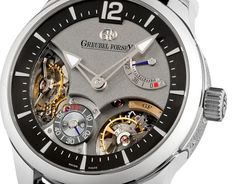 Greubel Forsey presents the first Double Balancier in Watchmaking    A true first in Horology, The Greubel Forsey Double Balancier 35° features two inclined fixed-oscillators.  This unique regulating system comprises two inclined oscillators and escapements. They are driven through a spherical differential, which provides the average of their rates via the gear train to the time display.    Fundamental Research...  Expand this post »