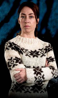 Sophie Grabol from the Danish tv show, the Killing, wearing some cool scandinavian knits.