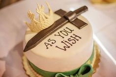 This Princess Bride cake would be great as a grooms cake or a wedding cake!