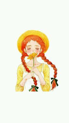 Anne of Green Gables print Disney Wallpaper, Cartoon Wallpaper, Girl Cartoon, Cartoon Art, Illustration Art, Illustrations, Anime Art Girl, Cute Drawings, Cute Wallpapers