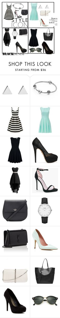 """""""Unbenannt #69"""" by faalt ❤ liked on Polyvore featuring Jennifer Meyer Jewelry, Pandora, Warehouse, Kate Spade, Oasis, Charlotte Olympia, Boohoo, CLUSE, Yves Saint Laurent and 3.1 Phillip Lim"""
