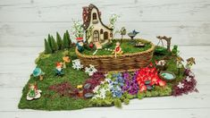 Learn How To Create a Basket Gnome Fairy Garden 21st Decorations, Wedding Decorations, Old Wedding Photos, Garden Basket, Wedding Reception Locations, Simple Prints, Gnome Garden, Fairy Land, Fairy Houses