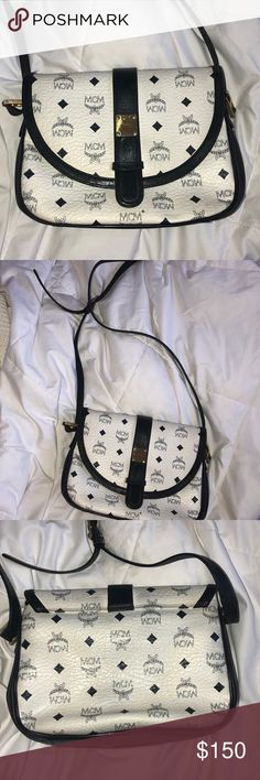 Vintage mcm crossbody bag I love a good vintage bag but I have to make space for some of my new purchase! White and navy MCM Bags Crossbody Bags