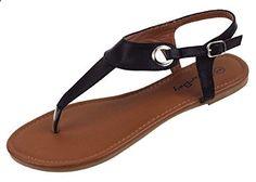 2a1fd00e541 Womens Roman Gladiator Sandals Flats Thongs W Buckle (8
