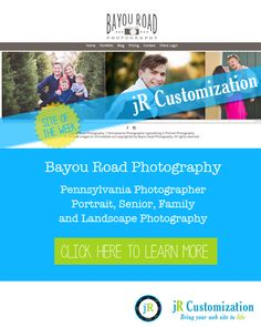 #SmugMug Site of the Week -  Bayou Road Photography #Pennsylvania  #Portraits #Families #Seniors Photography.  Learn more at http://www.jrcustomization.com