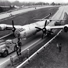 "The Boeing B-29 Superfortress ""Bockscar"" moves from the Air Force Museum at Patterson Field down State Route 444 to the new home at historic Wright Field in 1970. [: Courtesy of the U.S. Air Force]"