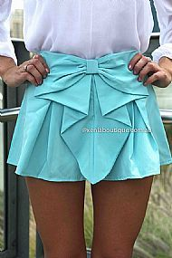 PRE ORDER - BOW SHORTS (Expected Delivery 26th March, 2014) , DRESSES, TOPS, BOTTOMS, JACKETS & JUMPERS, ACCESSORIES, 50% OFF SALE, PRE ORDER, NEW ARRIVALS, PLAYSUIT, COLOUR, GIFT VOUCHER,,SHORTS,Blue Australia, Queensland, Brisbane