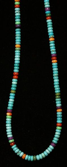 Blue Candy String Necklace - Southwest Indian Foundation Southwest Indian Foundation