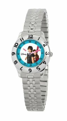 Disney Kids' D838S232 Camp Rock Shane and Mitchie Time Teacher Expansion Strap Watch Disney. $16.99. Labeled hour and minute hands. Kid's Disney time teacher watch. Helps teach your child how to tell time. Expansion strap. Water resistant up to 99 feet (30 M)