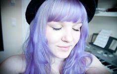 I really love lavender hair these days.