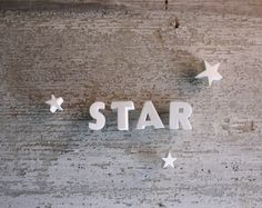 Etsy の Ceramic Push Pin Letters STAR by shavingkitvintage Sky Full Of Stars, Look At The Stars, Love Stars, All Star, Art Deco Font, Falling Stars, Star Art, Christmas Star, Merry Christmas