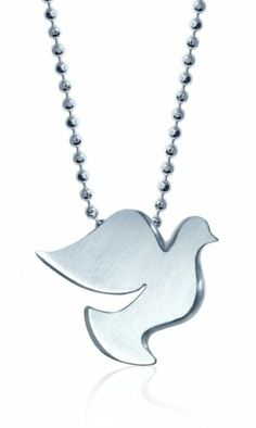 Alex Woo %22Little Faith%22 Sterling Silver Dove Pendant Necklace%2C 16%22