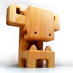 "MEGA BOOSO - 7"" Wood Toy"