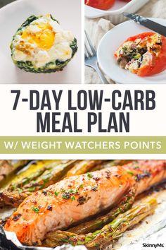 If youre looking for a way to cut back on weight without totally eliminating the foods you enjoy try this low-carb meal plan! If youre looking for a way to cut back on weight without totally eliminating the foods you enjoy try this low-carb meal plan! Clean Eating Meal Plan, Clean Eating Dinner, Eating Plans, Clean Eating Recipes, Healthy Eating, Keto Dinner, Diet Plans, Low Carb Plan, Weigth Watchers