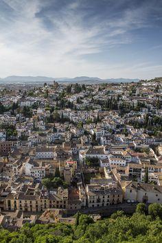 "Granada, Spain  via 500px / Photo ""The Old City"" by Romualdo Abellán"