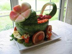 tallado de frutas y verduras para bodas - Buscar con Google
