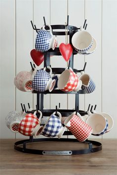 Gingham cups and pitchers