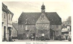 alte Postkarte - Rathaus Rastenberg