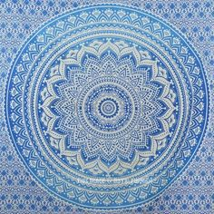 Buy blue Goddess small ombre mandala cotton tapestry wall hanging bedding at budget price so that you add more colors to your boring walls. Shipping worldwide USA, UK, Canada, Australia and more. Hippie Bedding, Tapestry Bedding, Beach Bedding, Luxury Bedding, Tapestries, Bedspread, Room Tapestry, Tapestry Beach, Mandala Tapestry
