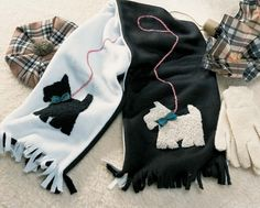 Fleece Scottie Dog Scarf