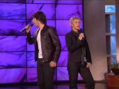 "Josh Groban and Ellen Sing ""Total Eclipse of the Heart!"" I love them both!!!!!"