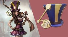 How To Make League Of Legends Caitlyn Hat For Cosplay