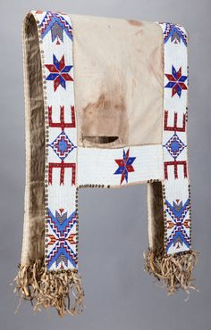 Sioux beaded saddle blanket, ca 1900 Native American Horses, Native American Images, Native American Regalia, American Indian Art, Native American Beading, Native American History, Native Indian, Native Art, Horse Gear