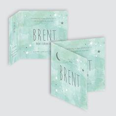 Geboortekaartje Brent, ontworpen door Ontwerp Studio Rottier