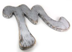http://www.etsy.com/listing/57448996/wooden-letter-m-wood-retro-sign-modern  by OldNewAgain on Etsy