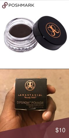 Anastasia Beverly Hills Dipbrow Pomade - Ebony What it is: A smudge-free, waterproof pomade formula that performs as an all-in-one brow product.   What it does: This creamy, multitasking product glides on skin and hair smoothly to create clean, defined brows. The standout formula works as a brow primer and provides color, sculpture, and shading. It is ideal for oily skin and in humid climates. Anastasia Beverly Hills Makeup Eyebrow Filler