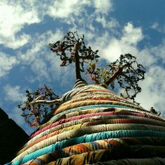 fabric tree outside southbank