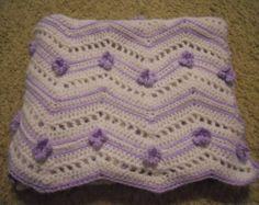 New Handmade Pinks & White Baby Girl Afghan Blanket with