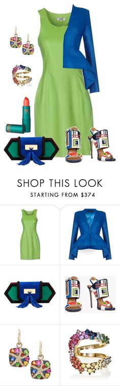 """""""Untitled #1677"""" by beng-gallo on Polyvore featuring Moschino Cheap & Chic, Safiyaa, Balmain, Dsquared2, Effy Jewelry, Ana Khouri and Lipstick Queen"""