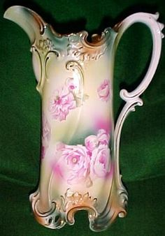 R .S. Prussia Porcelain Pitcher - Porcelain/Fine China