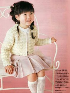 Crochet: Jacket for girls