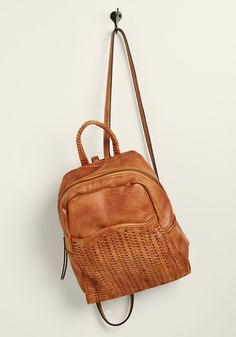 faux-leather backpack in tow! From quick day trips to faraway destinations, you'll loyally tote the woven front pocket,. Cute Leather Backpacks, Leather Backpack Purse, Cute Backpacks, Aldo Backpack, Backpack Bags, Leather Bags Handmade, Casual Bags, Luxury Handbags, Swagg