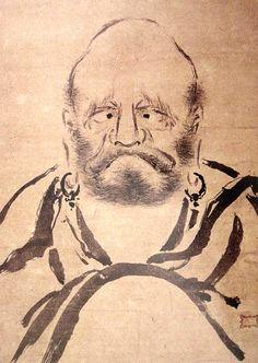 宮本武蔵 Miyamoto Musashi (c. 1584 – June 13, 1645) 正面達磨図 Daruma
