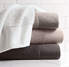 linen bordered turkish towels from restoration hardware