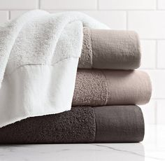 linen bordered turkish towels from restoration hardware