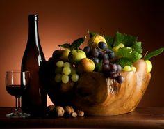 Obst Trauben Wein Flasche Lebensmittel
