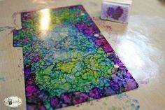 DIY: Alcohol Ink Window Tutorial - this is a goof proof project & it would be great used on a salvaged window.