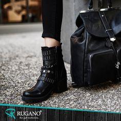 Siyah renk olarak en asil olanıdır. Kombinlerinizde hiç korkmadan kullanabilirsiniz.    #rugano #ayakkabı #deriayakkabı #süetayakkabı #topuklu #topukluayakkabı #izmir #konya #bot #stiletto #çizme #trendayakkabı