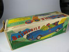 vintage red Japan Batmobile tinplate/Blech - komplett in schöner Box - near mint | eBay