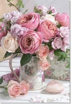 English Roses Marianna Lokshina - Bouquet Of English Flower Arrangements Simple, Flower Vases, Cactus Flower, Flower Bouquets, Bloom, Pretty Flowers, Pink Flowers, Exotic Flowers, Yellow Roses
