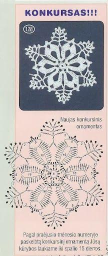 Crochet Patterns Christmas Christmas decorations on Stylowi. Crochet Snowflake Pattern, Crochet Stars, Crochet Motifs, Crochet Snowflakes, Crochet Diagram, Thread Crochet, Crochet Doilies, Crochet Flowers, Crochet Stitches