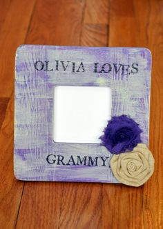 Personalized Grandma / Grammy Purple & Pale Yellow by OhSoFooFoo, $22.00