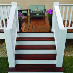 Enhance the look of your deck with Cabot®️️ Gold Ultimate Finish. Providing an unparalleled satin sheen, this stain adds interesting dimension and protects your floorboards from sun damage.