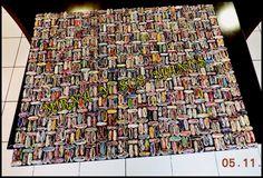 RECICLAJE. Cuadro hecho con revistas.RECYCLING. Picture made with magazines